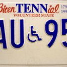 1997 Tennessee BicenTENNial Disabled License Plate (UAU 953)