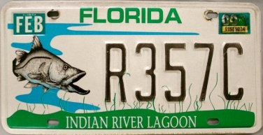 2000 Florida Indian River Lagoon License Plate (R357C)