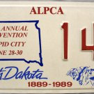 1990 Rapid City, South Dakota ALPCA 36th Annual Convention License Plate (144)