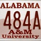 2000 Alabama: Alabama A&M University License Plate (484AM)