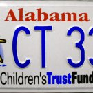 2003 Alabama Children's Trust Fund License Plate (CT 33S)