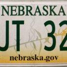 2014 Nebraska License Plate (TJT 322)