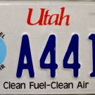 Utah Clean Fuel-Clean Air License Plate (A441D)