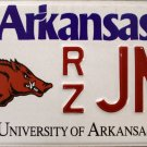 2015 Arkansas: University of Arkansas License Plate (RZ JNZ)