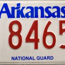 2013 Arkansas National Guard License Plate (8465)
