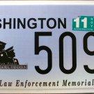2007 Washington Law Enforcement Memorial License Plate (5090)