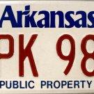 Arkansas Public Property License Plate (ZPK 980)