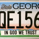 2015 Georgia In God We Trust License Plate (PQE1560)