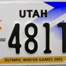 2002 Utah Olympic Winter Games License Plate (481T5)