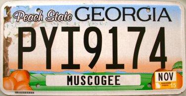 2015 Georgia License Plate (PYI9174)