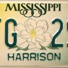 2002 Mississippi License Plate (PFG 297)