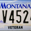 2003 Montana Veteran License Plate (V45247)
