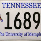 2013 Tennessee: University of Memphis License Plate (1689 TG)