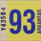 Arkansas: Passenger Plate Year Sticker (1993)