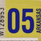 Arkansas: Passenger Plate Year Sticker (2005)