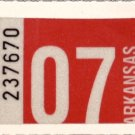 Arkansas: Passenger Plate Year Sticker (2007)