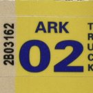 Arkansas: Truck Plate Year Sticker (2002)