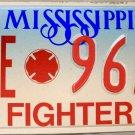 1996 Mississippi Fire Fighter License Plate (96AF)
