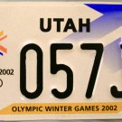 2002 Utah Olympic Winter Games License Plate (057J1)