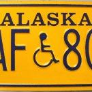 1993 Alaska Disabled Wheelchair License Plate (HAF 803)