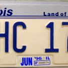 1996 Illinois License Plate (AHC 174)