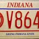 1992 Indiana Volunteer Firemen's Association License Plate (V8644)