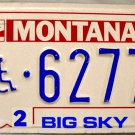 1991 Montana Disabled Wheelchair License Plate (6277)