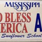 2005 Mississippi God Bless America License Plate (AV5)