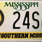 2001 Mississippi: University of Southern Mississippi License Plate (24S60)