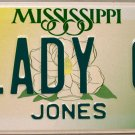 1999 Mississippi Vanity License Plate (LADY O)