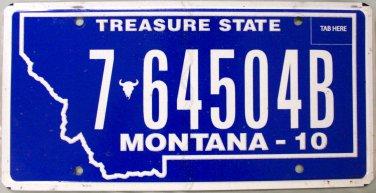 2010 Montana License Plate (7-64504B)