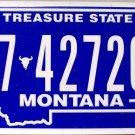 2010 Montana License Plate (7-42720B)