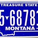 2010 Montana License Plate (5-68781A)