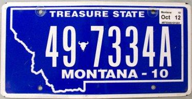 2012 Montana License Plate (49-7334A)