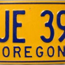 1976 Oregon License Plate (BJE 399)