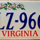 1994 Virginia Cardinal License Plate (LZ-9661)