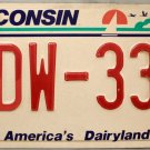 1999 Wisconsin License Plate (SDW-331)