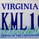 1994 Virginia Friend Of The Chesapeake License Plate (KML100)