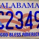 2013 Alabama God Bless America License Plate (BC23492)