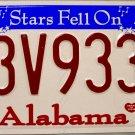 2007 Alabama License Plate (63V933A)