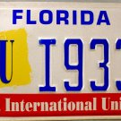 1998 Florida: Florida International University License Plate (I9332)