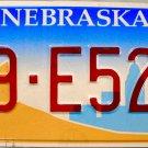 2000 Nebraska License Plate (39-E521)