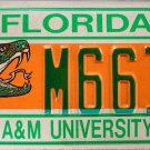 2004 Florida A&M University License Plate (M66IE)