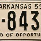 1959 Arkansas License Plate (1-8439)
