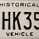 Ohio Historical Vehicle License Plate (HK35J)