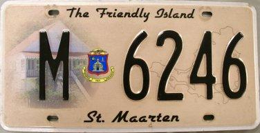 2010 St. Maarten License Plate (M 6246)