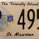 2010 St. Maarten License Plate (P 4954)