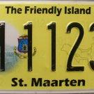 2012-2013 St. Maarten License Plate (M 11236)