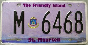 2014 St. Maarten License Plate (M 6468)