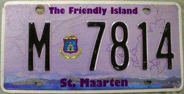 2014 St. Maarten License Plate (M 7814)